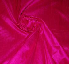 100% Natural Silk Dupioni Fabric Fucshia Pink Luxurious Dress Blouse BY THE YARD