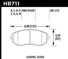 fits 2011-2014 Subaru Forester Forester,Impreza BRZ  HAWK PERFORMANCE