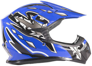 Youth Kids Motocross ATV Helmet Child BLUE DOT Small Medium Large XL UTV MX