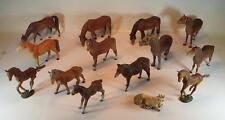 Elastolin / Lineol Masse Figuren Bauernhof heimische Tierwelt 14 Pferde #107