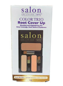Salon on 5th Ave NYC dark blond root cover up color trio powder