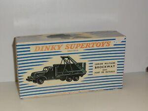Boite vide de Camion Militaire BROCKWAY DINKY Toys boite d'Origine