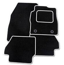 FORD KA 2009-2013 TAILORED CAR FLOOR MATS BLACK CARPET WITH WHITE TRIM
