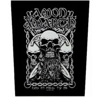 Amon Amarth Bearded Skull Jacket Back Patch Official Death Metal Backpatch New