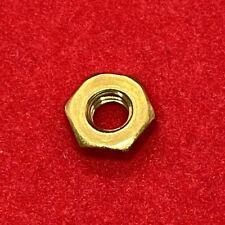 10 32 Solid Brass Machine Screw Hex Nuts Qty 100
