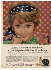 "BEAUTIFUL WOMAN COVER GIRL Vintage 1960's 8"" X 11.25"" Magazine Ad B6"
