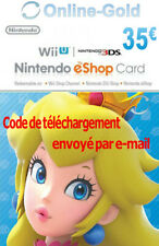 Nintendo Eshop CARD 35€ Carte de Jeu Console compatible 3DS/Wii U/Switch[NEUF]