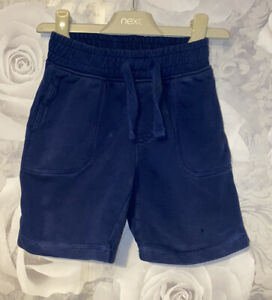 Boys Age 18-24 Months - Navy Jersey Shorts From Mini Club
