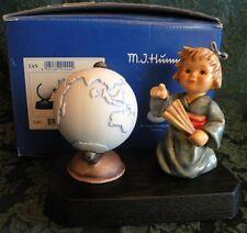 "HUMMEL ""ASIAN WANDERER""  Hum # 1444 Hum 2063 (3 Piece Set-Figurine, Globe, Base)"