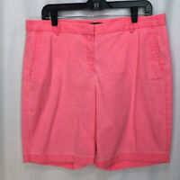 J. Crew Womens Neon Pink Flat Front Stretch Lightweight Bermuda Shorts Size 12