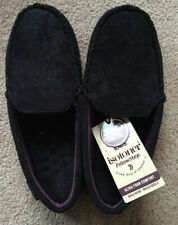 Totes Isotoner Suedette Pillowstep Moccasin Slippers UK Size 10-11 - BNWT