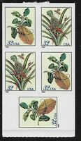 US Scott #3128b, Booklet Pane 1997 Botanicals 32c VF MNH