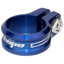Hope Bolt On Seat Clamp 34.9mm Blue - Brand New