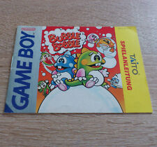 Nintendo Gameboy (GB) // Bubble Bobble - Anleitung/Instructions // dt. PAL
