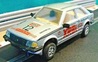 Scalextric 1:32 Vintage 1980s C308 Ford Escort MK3 XR3i Silver Texaco (RESTORED)