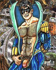 Nightwing Titans Batman Gay Erotic 11 X 17 Art Print DC Comics Fan Art