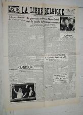 FAC-SIMILE A LA UNE JOURNAL LIBRE BELGIQUE 12/06 1967 GUERRE ISRAEL EGYPTE SYRIE