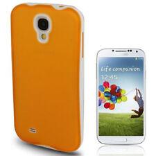 2in1, bumper + funda de silicona para Samsung i9500 Galaxy s4 naranja blanco funda protectora,