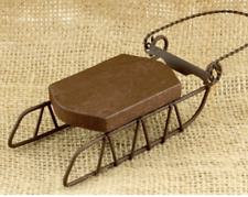 Lot of 3 Cross Stitch Wood & Metal Sleds for Lizzie Kate or Foxwood Designs NIP