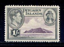 PITCAIRN ISLANDS 7 SG7 MH 1940-51 1sh KGVI Defin View of Pitcairn Cat$5