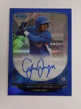 2013 Bowman Chrome Gioskar Amaya Blue Refractor Autograph Card 20/150