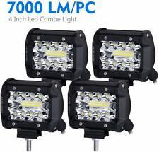 4Pcs 70W LED Work Light 4Inch Triple Row Spot Flood Auxiliary Driving Lights