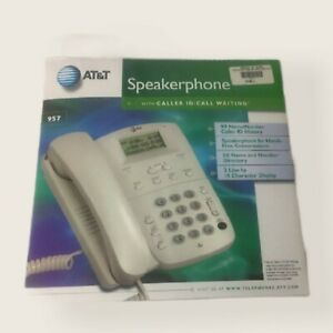 AT&T 957 Single-Line Corded Phone System With Caller ID And Power Supply - New