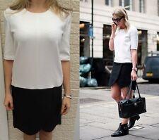 Utilisé le kooples noir & blanc loose casual robe de soirée taille 36 uk 10 rrp £ 245