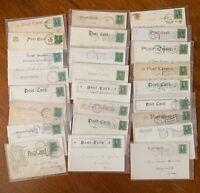 1905 - 1908 US Franklin Stamp Undivided Postcards Lot - 26 Piece Niagara Falls +