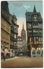 AK Frankfurt am Main, Am Römerberg, 1922