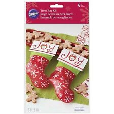 Stocking Christmas Treat Bags Header Card Kit 6 ct.  from Wilton #7205 - NEW