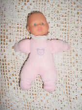 Gi Go-Baby Doll-Pink Bear Clothes-Soft Stuffed-Bald-Blue eyes