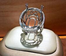14k white gold natural diamonds semi mount ring.No Center Stone. size 6,5