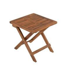 Holz Beistelltisch Klapptisch Gartentisch Balkontisch Gartenmöbel Akazie