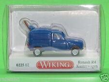 1:87 Wiking 022502 Renault R4 Kastenwagen - blau Blitzversand per DHL-Paket