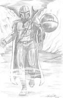 Mandalorian Original Art by Jay Taylor