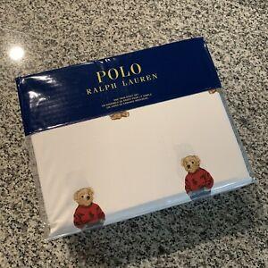 POLO Ralph Lauren Polo Bear TWIN Size 3pc Sheet Set