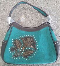 Montana West Purse New W/Tags Turquoise LL-8291 TQ