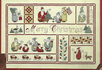 Merry Christmas Santa Sampler Cross Stitch Pattern from magazine Ornaments more