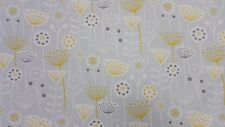 Fryetts Scandi Bergen Grey Curtain Upholstery Craft Designer Cotton Fabric