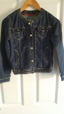 Girls Denim Blue Jeans Jacket  Size 9/10.
