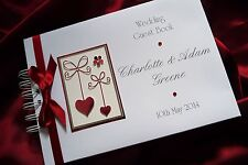 A5 WEDDING / RUBY ANNIVERSARY GUEST BOOK / ALBUM PERSONALISED 1545RBK