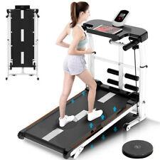 Folding Manual Treadmill 4-in-1 Shock Running Working Machine Fitness Incline