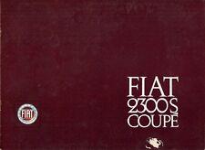 Fiat 2300 S Coupe 1965-68 UK Market Sales Brochure