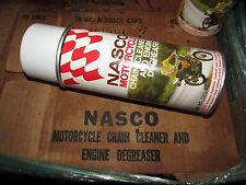 1 Vintage nasco motorcycle aerosol chain cleaner engine degreaser SPRAY oil can
