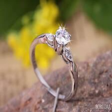 0.5ct CREATED Brilliant  Diamond 18k White GP Ring **0134** size 6.5/M