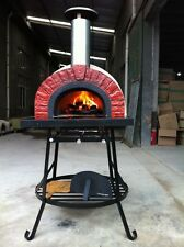 Wood Fired Pizza oven (Jalando BA 70) on stand with Granite bench