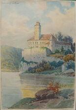 Rudolf Pöpl, Schönbüchl, Wachau, Aquarell, 1922