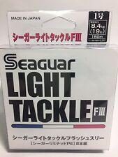 50997) Seaguar LIGHT TACKLE FLASH III 8 Braided PE Line #1(19lb/8.4kg) 150m