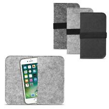 Filz Hülle Smartphone Tasche Cover Case Handy Flip Filztasche Kartenfach Etui